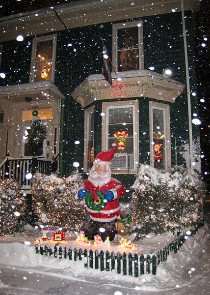 Neighborhood Christmas decorations.