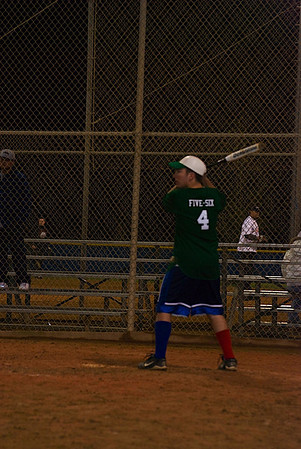 "Number 4, 5' 6"" Mike Ackermann waits for the pitch"