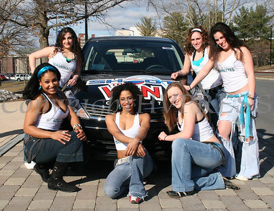 Hudson Valley Hawkettes pose with shoot to win Nissan