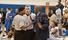 Hawks Head Coach Robert McMillian argues a call with refs