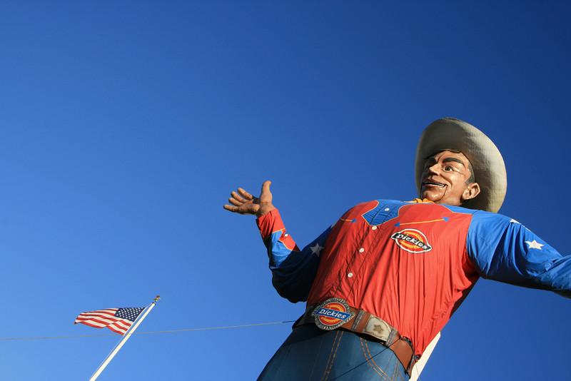 """Big Tex saying, """"Howdy, Folks!"""""""