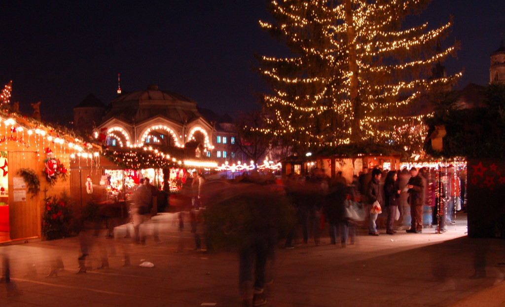 Christmas market ghosts