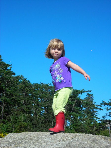 Saxe Point Park - Abbie has suddenly outgrown ALL of her shoes.