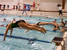 Synchronized dives.