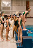 Younger girls lining up to dive.