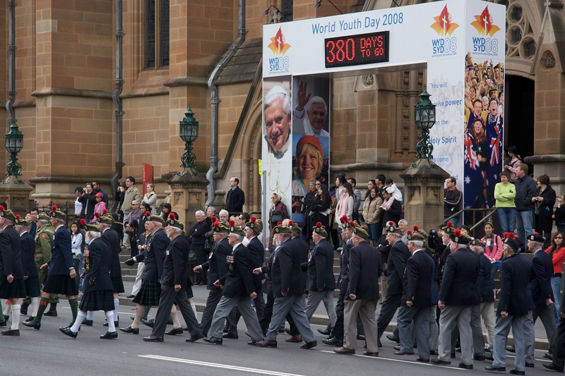 Reserve Forces Day parade, Sydney • Veteran reserve forces parade on Colelge Street, past St Mary's Cathedral, on Sunday, 1st July 2007.