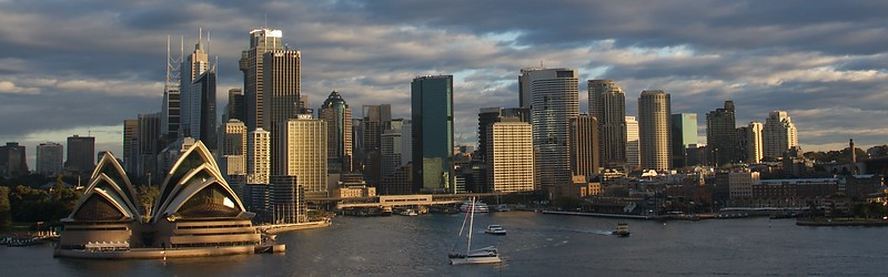 Sydney • The north side of the city of Sydney in the late-afternoon winter sunlight.