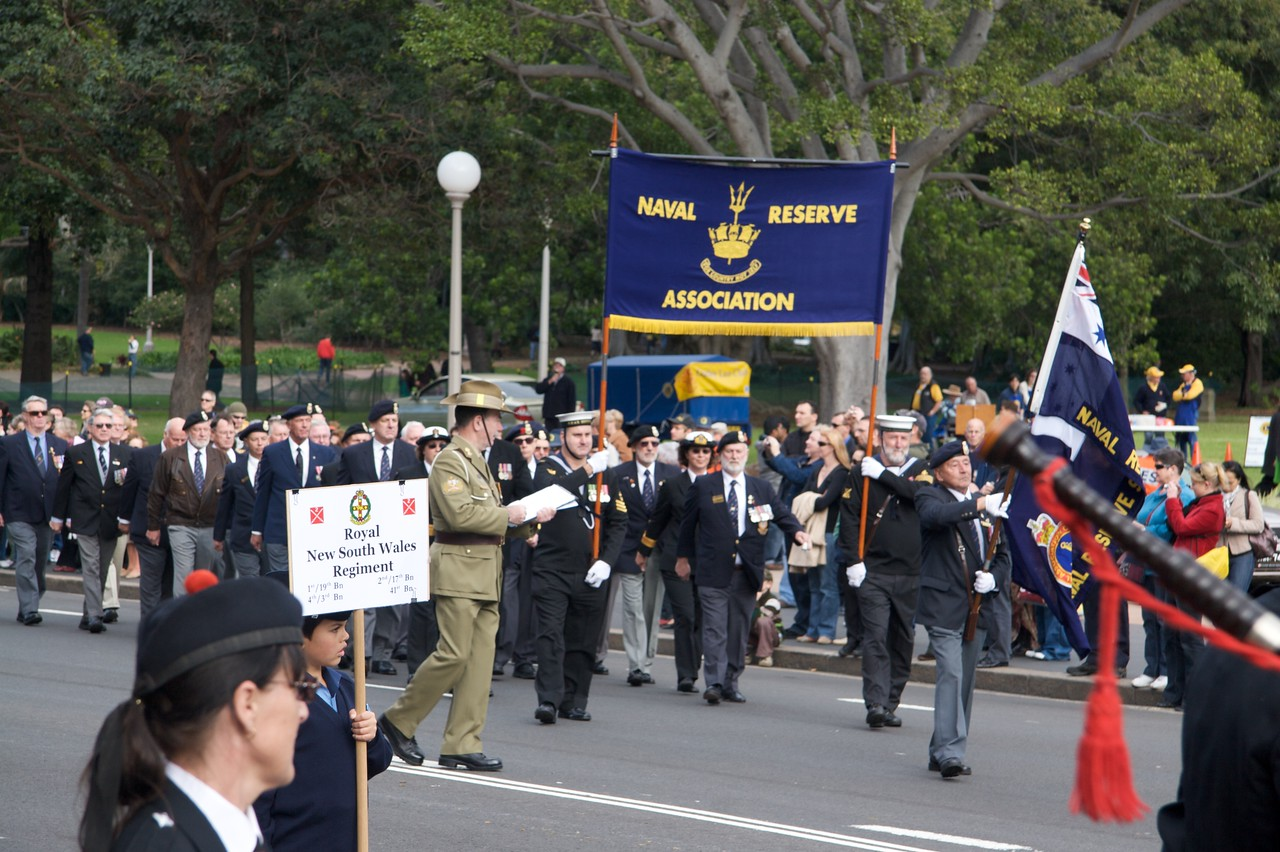 Reserve Forces Day parade, Sydney • The Naval Reserve Association parading on College Street, on Sunday, 1st July 2007.