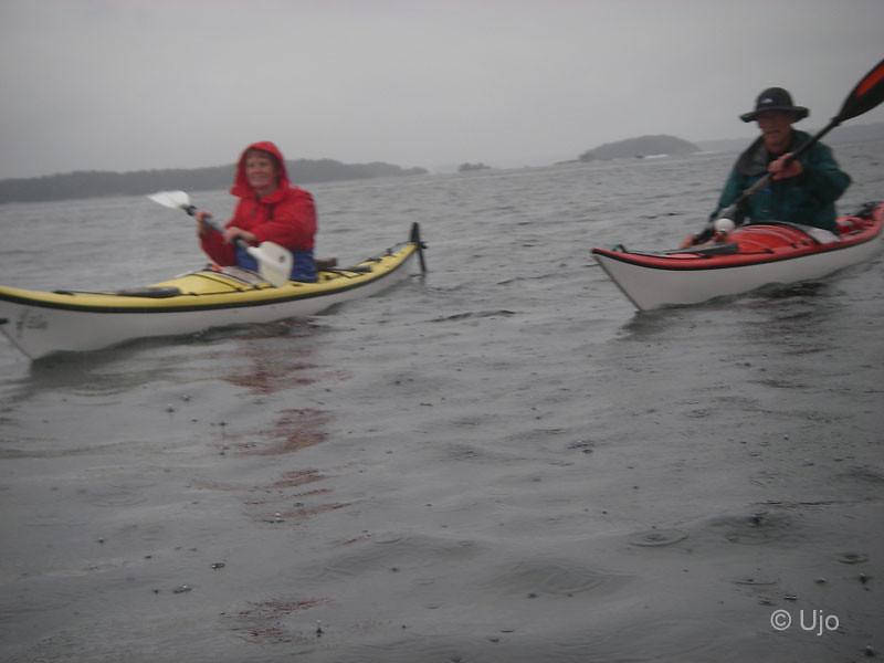 Regn hindrar inte paddling!