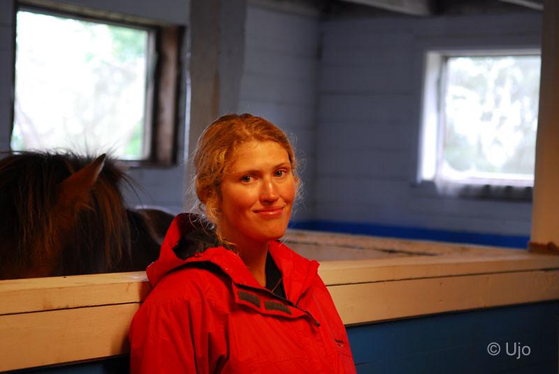 Sofie såg ut att trivas i stallet.