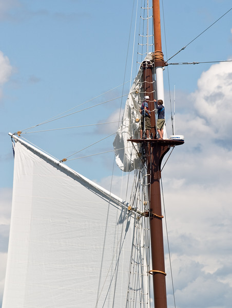 "Up the mast of the ""Mystic""."