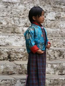 Bhutanese Girl at Punakha Dzong - Mibs Mara