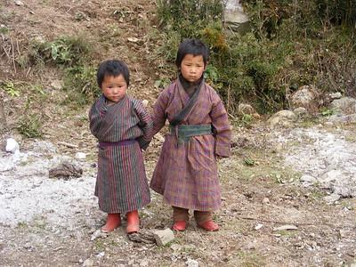 Bhutanese  Children of Yak Herding Family - Mibs Mara