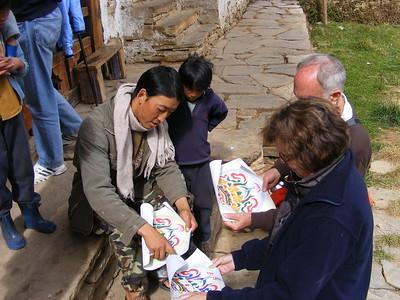 Artist in Village of Shingkar - Mibs Mara