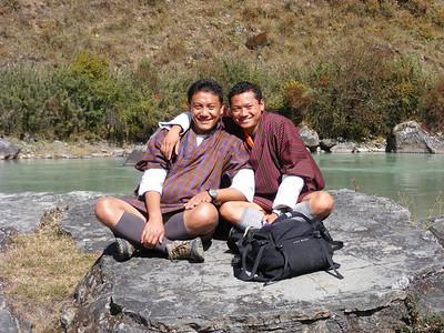 Bhutanese Guides Kuenley & Sonam - Mibs Mara