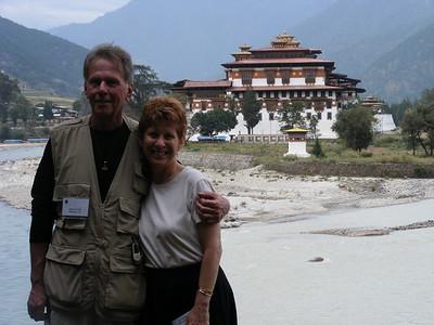 Geri Amori & John Ives at Punakha Dzong - Mibs Mara