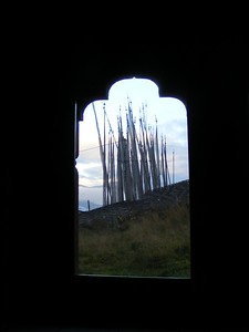 Prayer Flags at Gongkhar Lodge - Mibs Mara