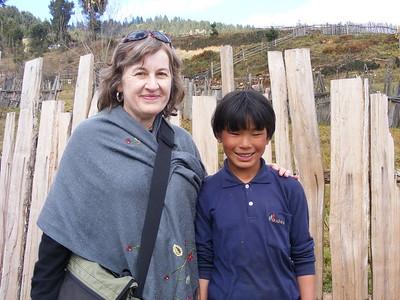 Kathryn Van Wagenen with Pema in Village of Shingkar - Mibs Mara