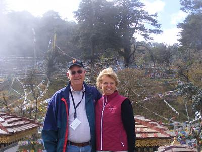 Carole & Phil Caviello at Dochula Pass - Mibs Mara
