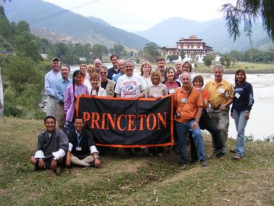 Princeton Group at Punakha Dzong - Mibs Mara