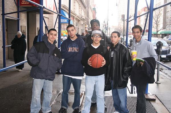 Times Square Bronx Basketball Teens - February 7, 2007