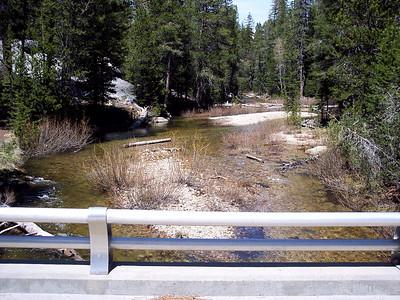 Yosemite Creek at Hwy 120 Bridge Crossing.