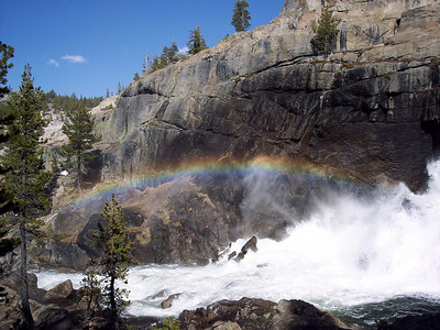 I turned a corner and bumped into this rainbow on the trail to Glen Aulin.