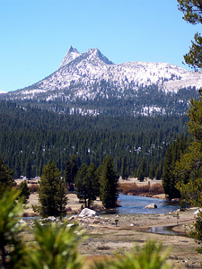 Cathedral Peak taken on a rise near the Soda Springs on the beginning of my trek to Glen Aulin.