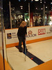 This is me hitting the puck very fast at the giant screen. I rock.