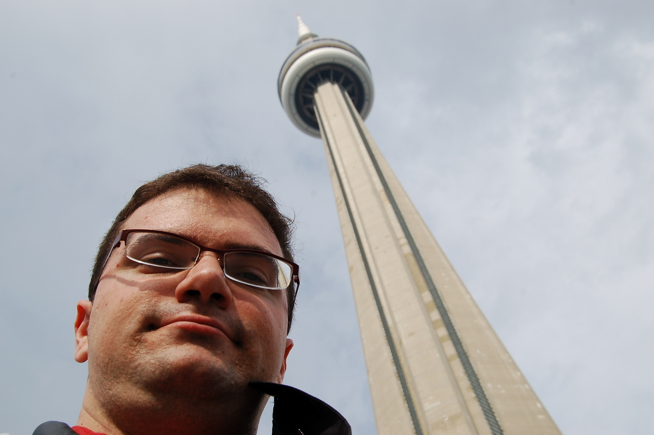 Me below CN tower