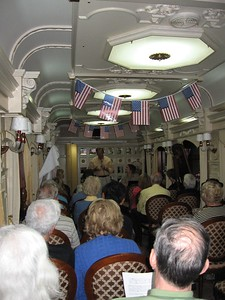 Reading Declaration of Independence on the 4th of July aboard the Trans-Siberian Express - Leslie Rowley