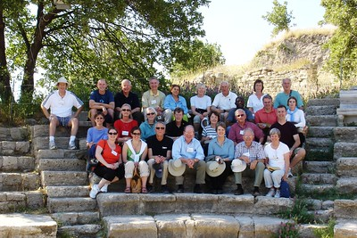 Group Picture at Small Roman Theatre in Troy - Liz Greenberg