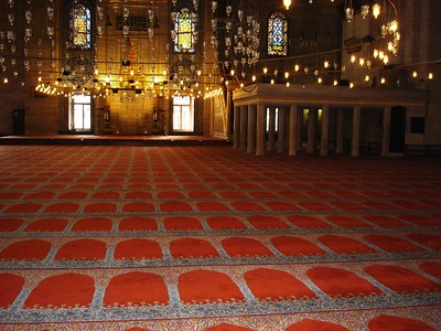 Interior of Suleymaniye Mosque  - Liz Greenberg