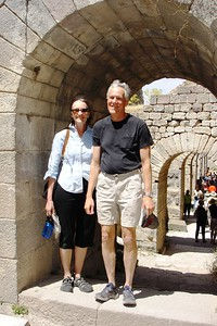 David Dollenmayer and Linda Pape in Pergamum - Liz Greenberg