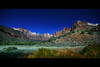 museum view night c zion canyon utah