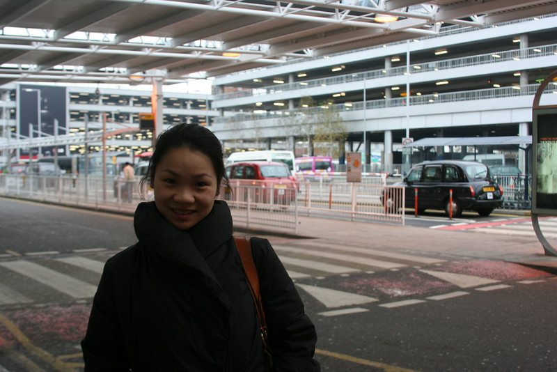 We arrived Heathrow Airport at 8am in the morning