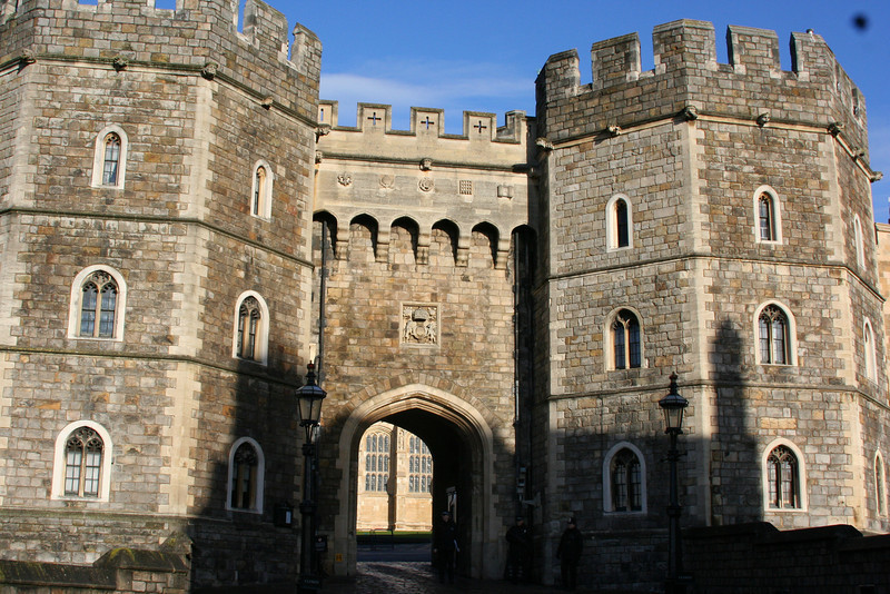The main entrance of the Winsor Castle