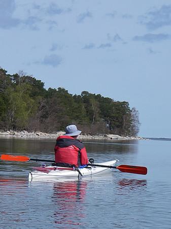 På söndagen var det lätta vindar så vi fick en fin paddling