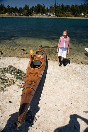 """This is Dad's """"double"""" sea kayak."""