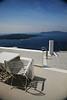 Our Villa Renos patio Santorini Greece