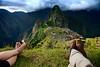 A lazy hour spent gazing at Machu Picchu