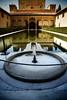 courtyard fountain alhambra granada spain 2