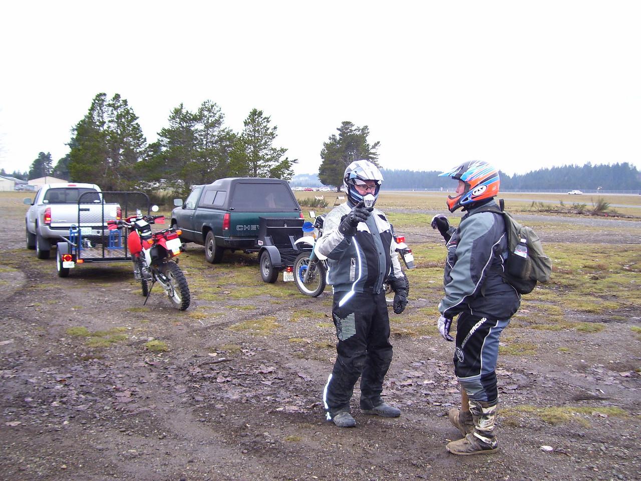 "Dorian and Crew preparing the ""Shelton Dual Sport"" ride"