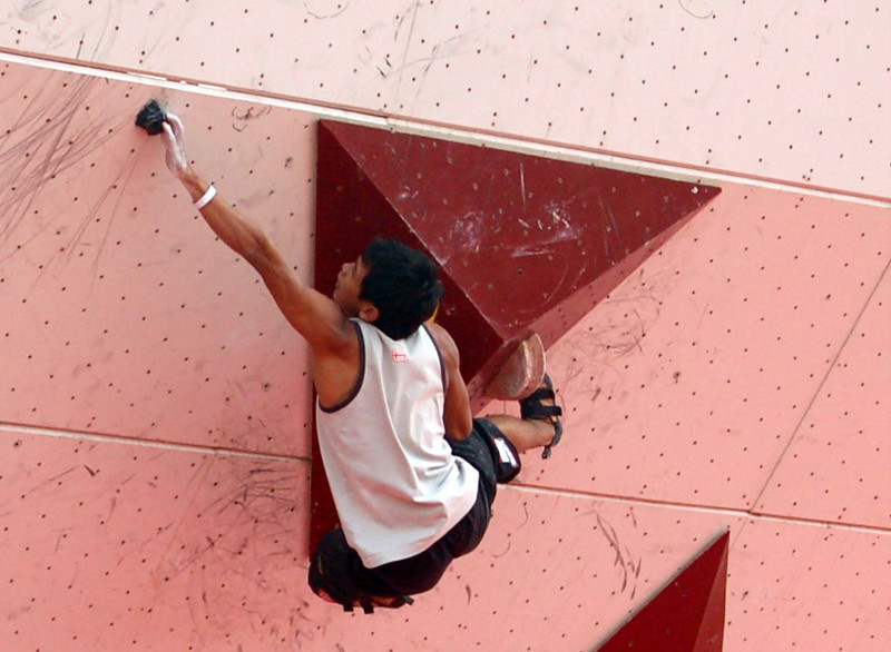 Men's flash bouldering