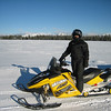 Pam just seems to go-well-with a Yellow snowmobile