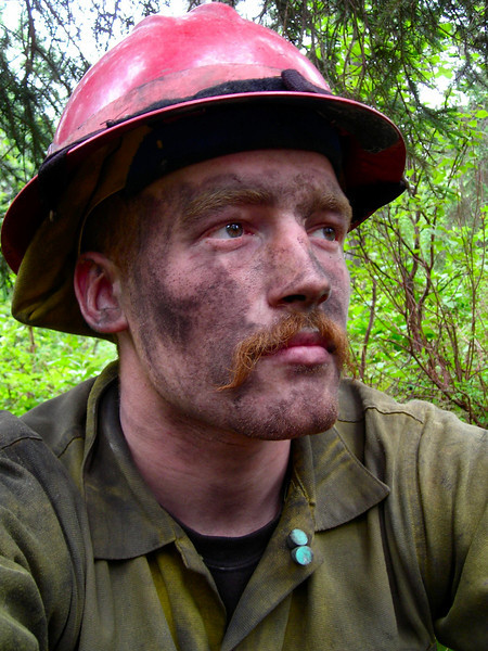 Self portrait after a few days on the fire.