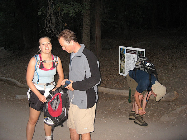 One last final check before we start up the trail.