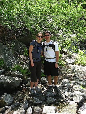 Katy and I as we hike up the 4 Mile Trail to Glacier Point