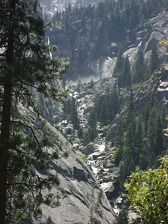 All the water as we hike up Vernal Falls