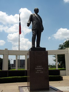 Monument honoring Dallas businessman George Bannerman Dealey